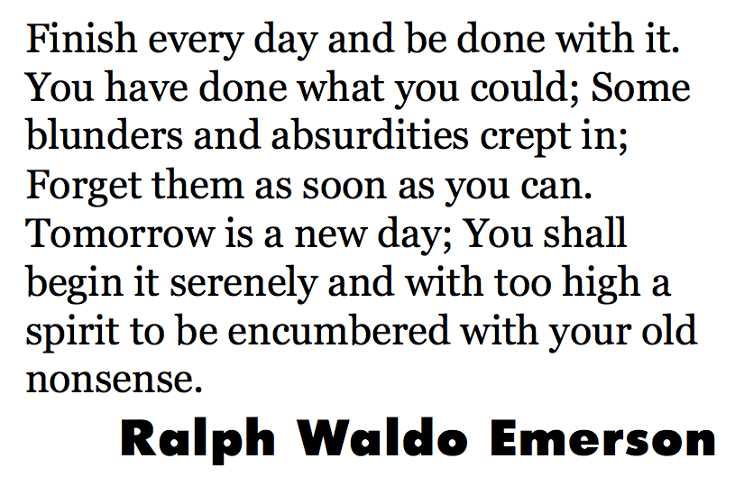 Ralph Waldo Emerson finish
