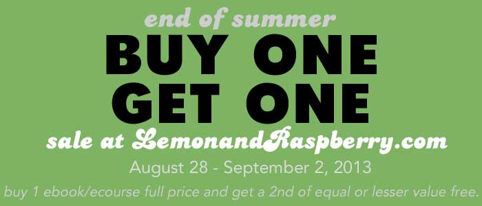 Lemon and Raspberry Labor Day Sale