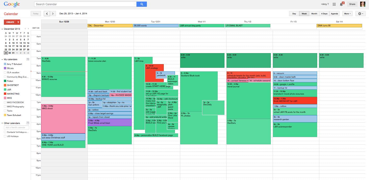 working schedule