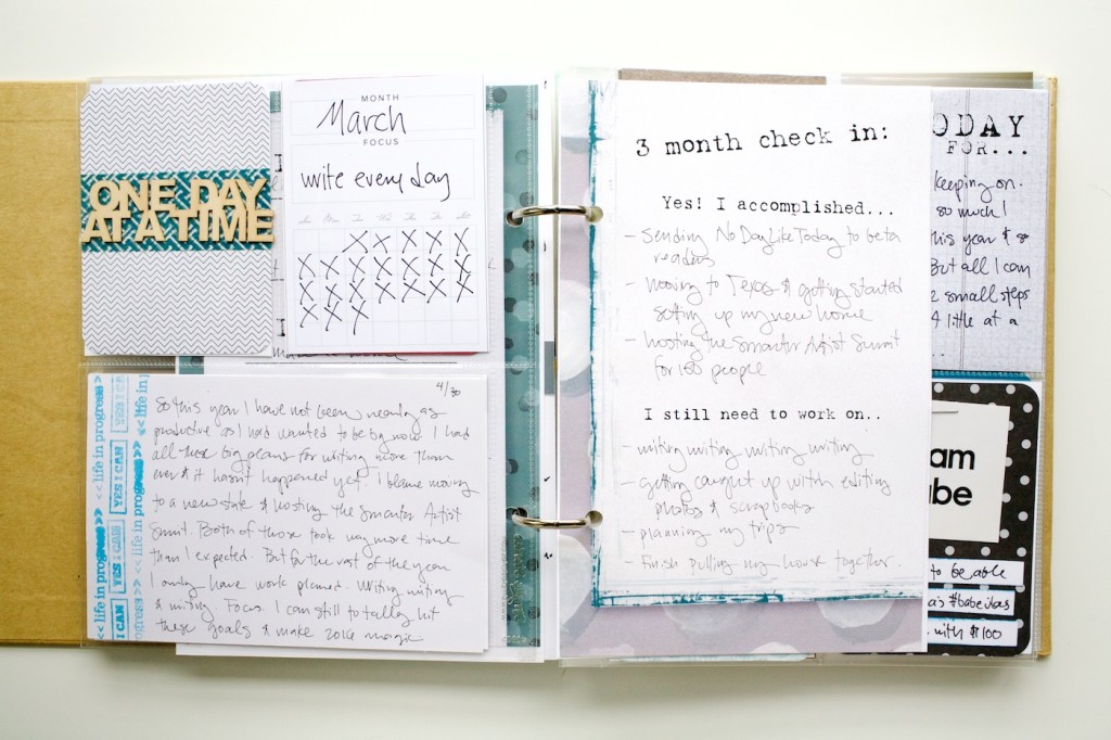 Document your goals with January RESET project