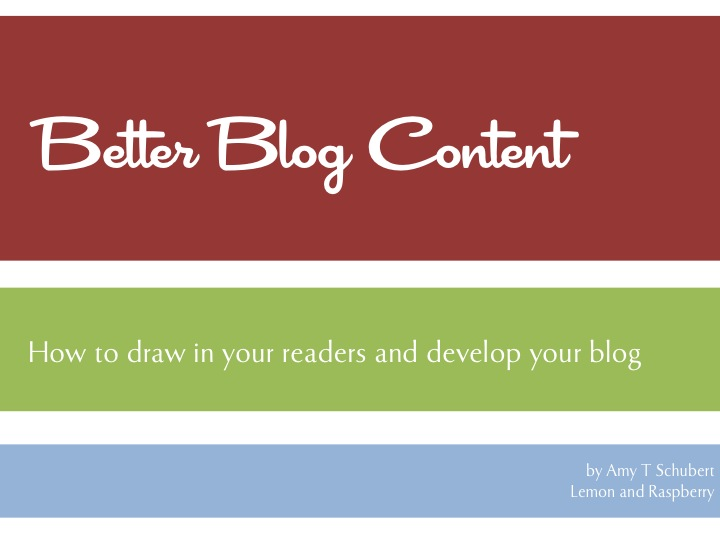 Better Blog Content Workbook